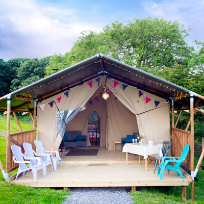 Glamping safari tents